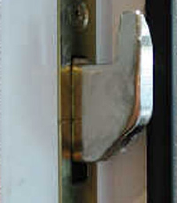 PVCu doors include additional security in the form of bolts along the full length of the unit